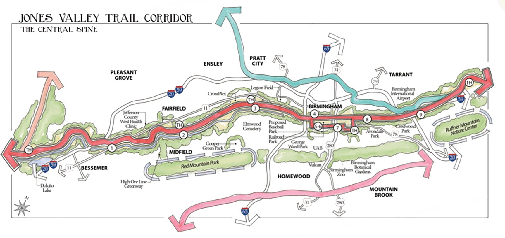Jones Valley Trail Map